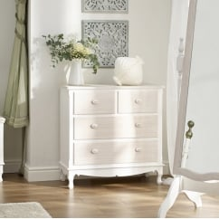 Juliette white painted 2+2 chest drawers