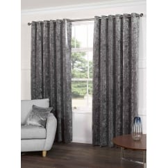 Plush steel readymade eyelet curtains