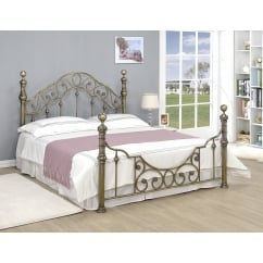 Canterbury brass metal traditional bedframe