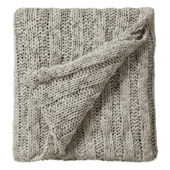 Drift stone knitted bed throw 130cm x 150cm