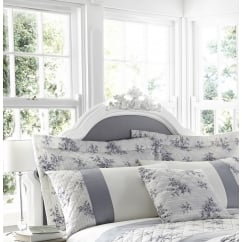 Toile french style floral pillowshams and 43cm cushion pack