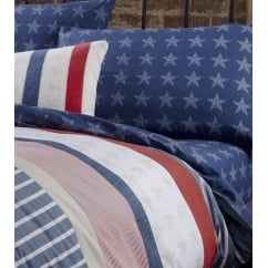 Stars and stripes navy fitted sheet