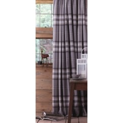 Kelso charcoal grey tartan check readymade curtains