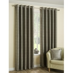 Luna latte metallic eyelet readymade curtains