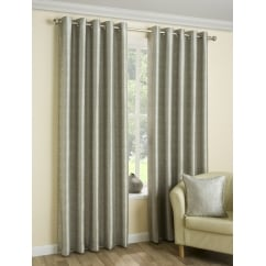 Luna silver metallic eyelet readymade curtains