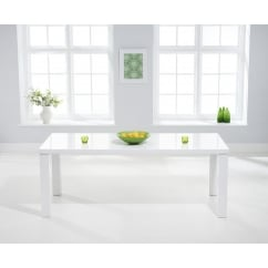 Ava white 200cm high gloss dining table