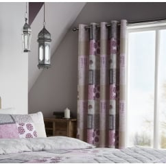 Ethnic floral patchwork readymade eyelet curtains