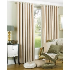 Wellesley natural chenille eyelet curtains