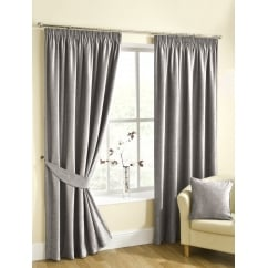 Rico silver heavyweight pencil pleat readymade curtains