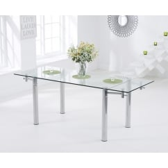 Grenada 140cm - 200cm ext glass dining table