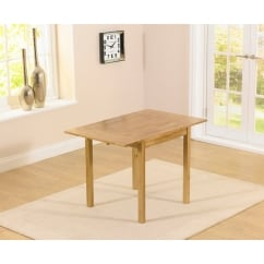 Promo solid oak 70cm extending dining table