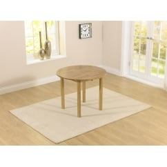 Promo solid oak 90cm dropleaf extending dining table
