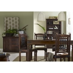 Darjeeling dark sheesham 120cm dining set