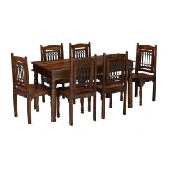 Darjeeling dark sheesham 145cm dining set