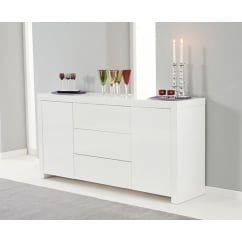 Hereford white high gloss sideboard