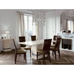 Vittoria marble 180cm dining set with 6 chairs
