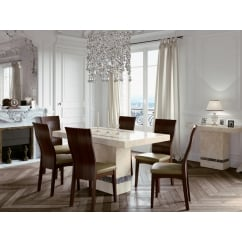 Vittoria marble 150cm dining set with 6 chairs