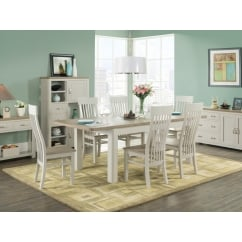 Treviso White Painted 6' Dining Set