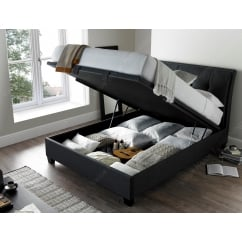 Accent slate ottoman storage bed