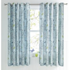 Aviana Duck Egg Butterfly Curtains 66x72