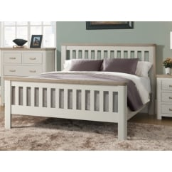 Treviso White Painted slatted Bed