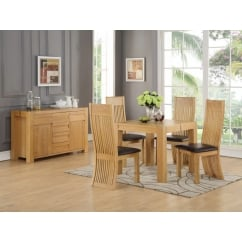 Meridian 90cm Square Dining Table