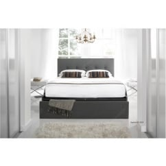 Hexham smoke grey fabric bed