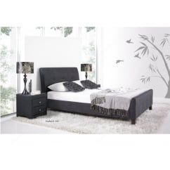 Amble slate grey fabric sleigh bed