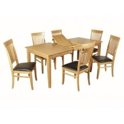 Dalton Dining Set (Light Oak)