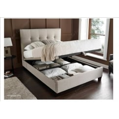 Walkworth oatmeal fabric ottoman bed