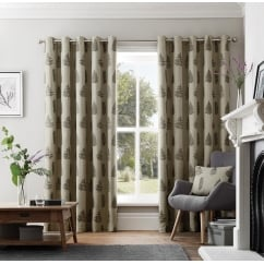 Acona charcoal eyelet readymade curtains