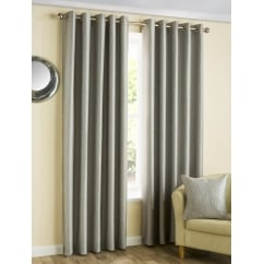 Ziggi Graphite eyelet ready made curtain