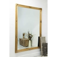 Abbey gold ornate mirror, 201 x 140cm