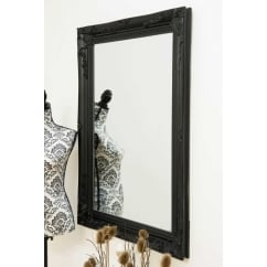 Buxton black ornate mirror 110 x 79cm