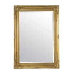 Buxton gold ornate mirror 110 x 79cm