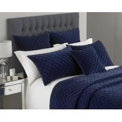 Turenne deep blue square pillowsham, 65cm
