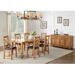 Oakridge 150cm oak dining set