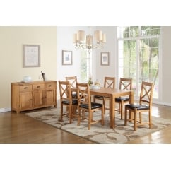 Oakridge 120cm oak dining Set