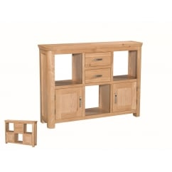 Treviso oak low display unit