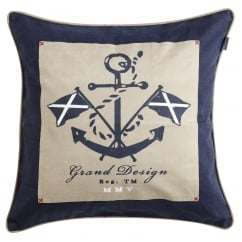 Anchor canvas cushion cover, 48cm
