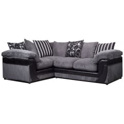 Lola grey corner fabric sofa, left hand