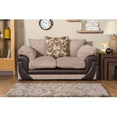 Lola beige 2 seater fabric sofa