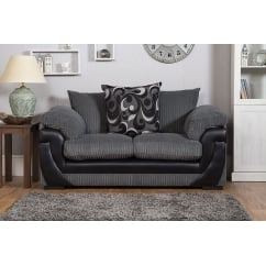 Lola grey 2 seater fabric sofa