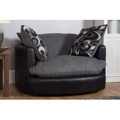 Lola grey swivel chair