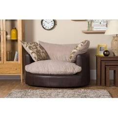 Lola beige swivel chair