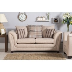 Stanley beige 2 seater fabric sofa