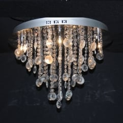 12 light semi flush crystal pendant