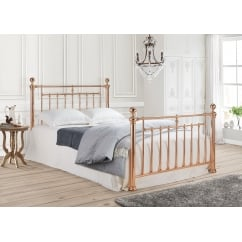 Alexander rose gold metal bed frame