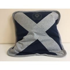 IVy league saltire cross 48cm cushion cover, navy grey