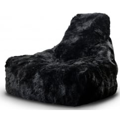 Might by black fur beanbag